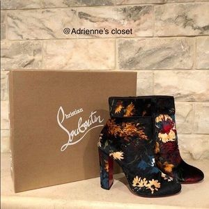 Christian Louboutin Black Moulamax 100 red Boots